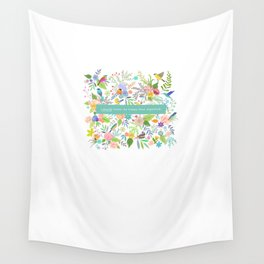 Jane Eyre - I Would Rather Be Happy Than Dignified Wall Tapestry