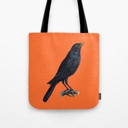 Vintage Raven Tote Bag