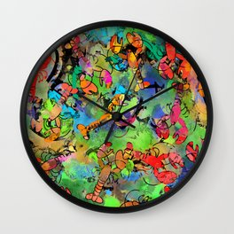 Grunge Lobsters Wall Clock