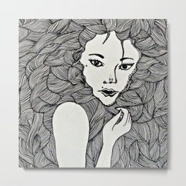 The insecure girl Metal Print