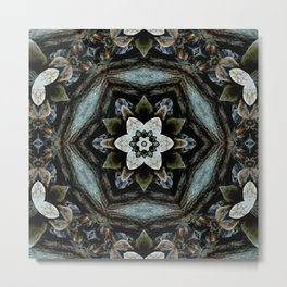 Boho Mandala Flower Metal Print