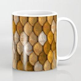 Rustic metallic gold copper silver abstract mermaid pattern Coffee Mug