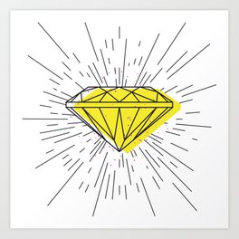 Shiny diamond Art Print