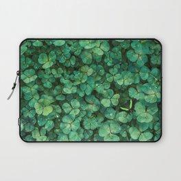 Lucky Green Clovers, St Patricks Day pattern Laptop Sleeve
