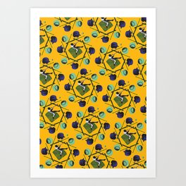 pop pattern_baseball Art Print