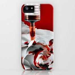 Paining a Rose Red iPhone Case