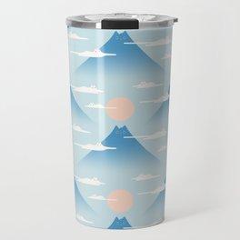 Cat Mountain Cloud pattern 1 Travel Mug