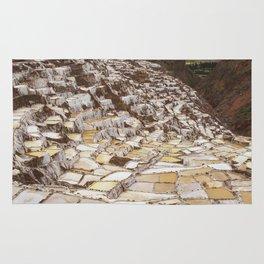 Salina de Maras in Sacred Valley Peru Rug
