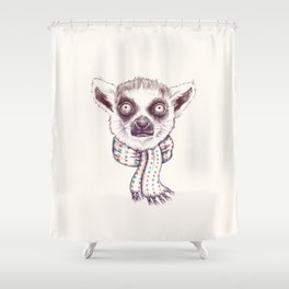 Lemur and scarf Shower Curtain