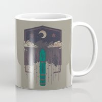 occult Mugs featuring The Lost Obelisk by Hector Mansilla