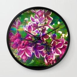 Violet Love & Light Lilac Wall Clock