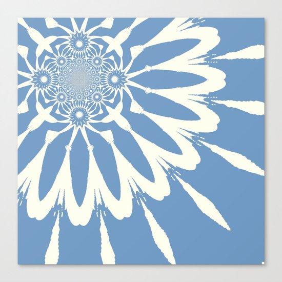 Subtle Blue Flower Canvas Print