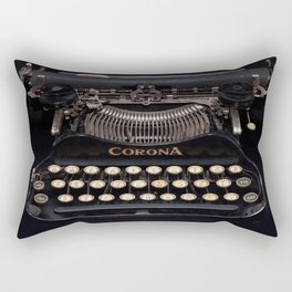 Corona Typewriter Rectangular Pillow