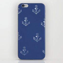 Ancre de bateau (estampe) iPhone Skin