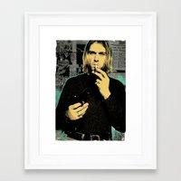 kurt rahn Framed Art Prints featuring Kurt by Devolution Designs