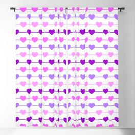 Hearts - Pink and Purple Blackout Curtain