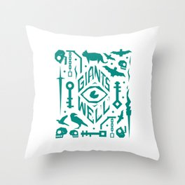 Giants' Well collage Throw Pillow
