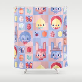 Happy Easter! Pattern Shower Curtain