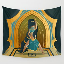 arabian belly dance dancer girl Wall Tapestry