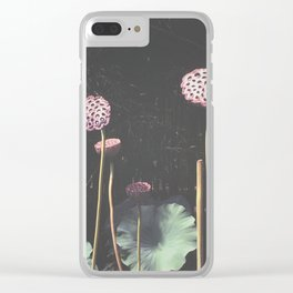 Lotus Seed Heads Clear iPhone Case