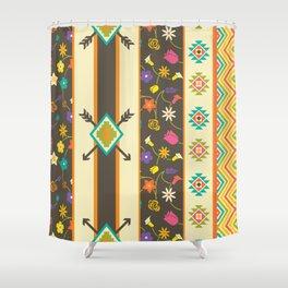 Aztec Pattern 3 Shower Curtain