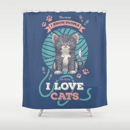 I Love Cats! Shower Curtain