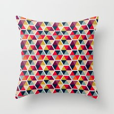 Colorful Umbrellas Geometric Pattern Throw Pillow