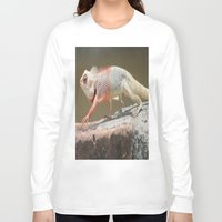 chameleon Long Sleeve T-shirts featuring Chameleon  by Four Hands Art