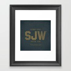 SJWs Framed Art Print