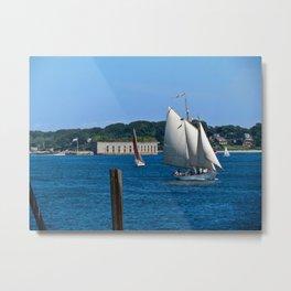 Sailboats in Portland, Maine Metal Print