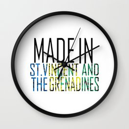 Made In St. Vincent and the Erenadines Wall Clock