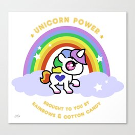 Unicorn Power - By Rainbows and Cotton Candy Canvas Print