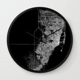 miami map Wall Clock