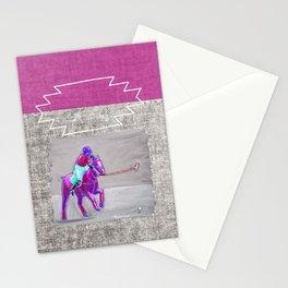 poloplayer grey-mauve Stationery Cards