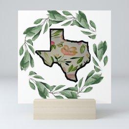 White Texas Wreath Mini Art Print