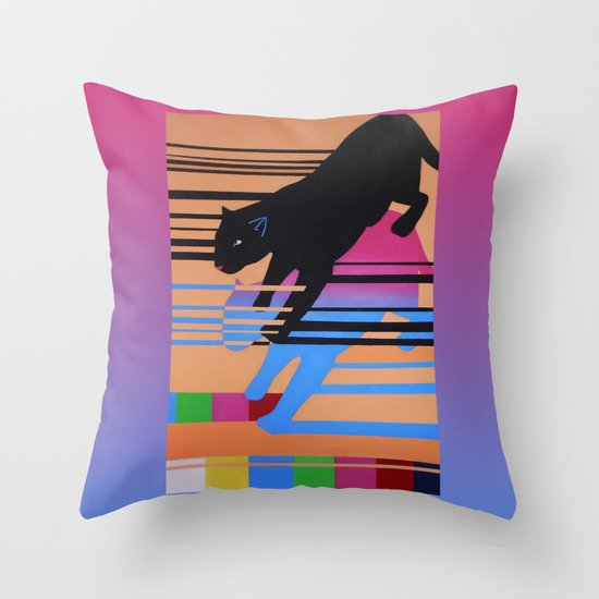 Black Panther Throw Pillow by Oxxygene Society6