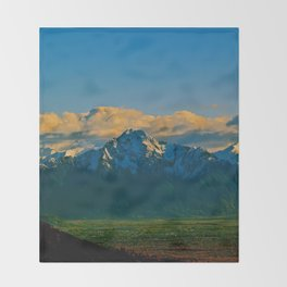 Pioneer Peak - Mat-Su Valley Throw Blanket