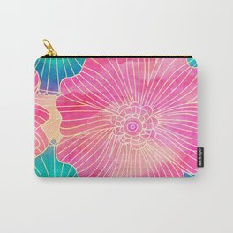 Floral Pattern 11 Carry-All Pouch