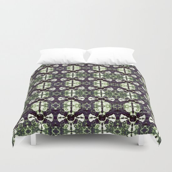 Eggplant Bloom Duvet Cover