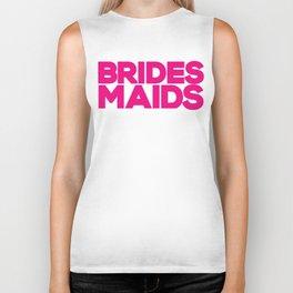 Bridesmaids Wedding Artwork - Hot Pink  Biker Tank