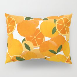 mediterranean oranges still life  Pillow Sham
