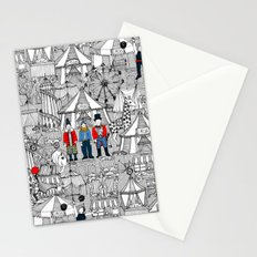 retro circus bw col Stationery Cards