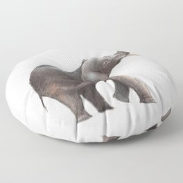 Elephant Drawing Floor Pillow