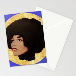 Feminist Angela Davis as a Young Black Lives Matter Activist for Panthers Stationery Cards