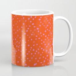 Red Pink irregular pattern carpet Coffee Mug