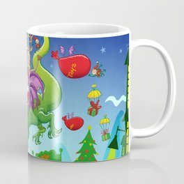 Santa changed his reindeer for a dragon Coffee Mug