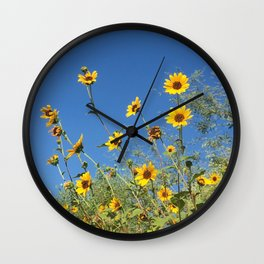 Sunflowers on a Sunny Day Wall Clock