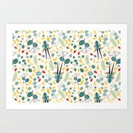 Cashew Nuts Pattern (Version 1) Art Print