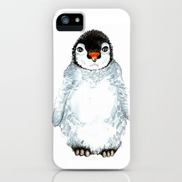 Molly the baby penguin iPhone Case