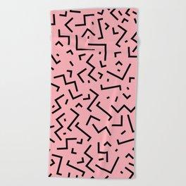 Memphis pattern 34 Beach Towel